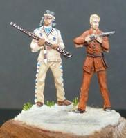 Figurines Winnetou et Old Shatterhand