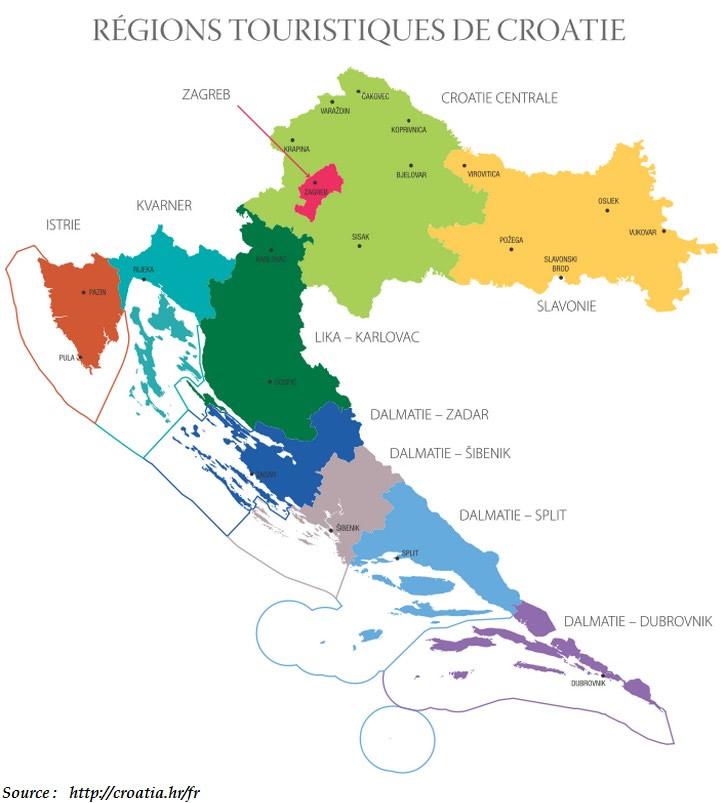 zagreb croatie carte