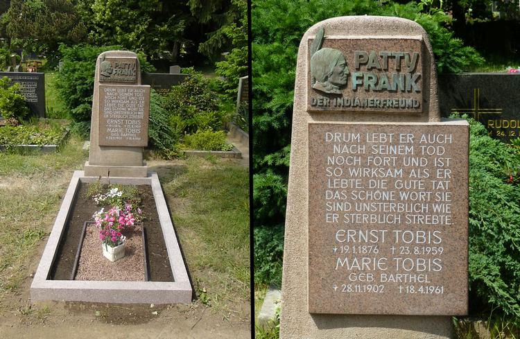 Tombe de Patty Franck et de son épouse Marie Barthel