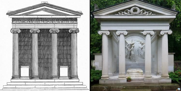Comparaison entre le temple Nikè et le tombeau de Karl May